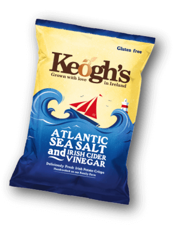 Sea Salt and Irish Cider Vinegar Crisps | Keogh's