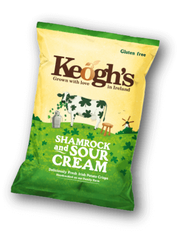 Shamrock and Sour Cream Crisps | Keogh's Crisps