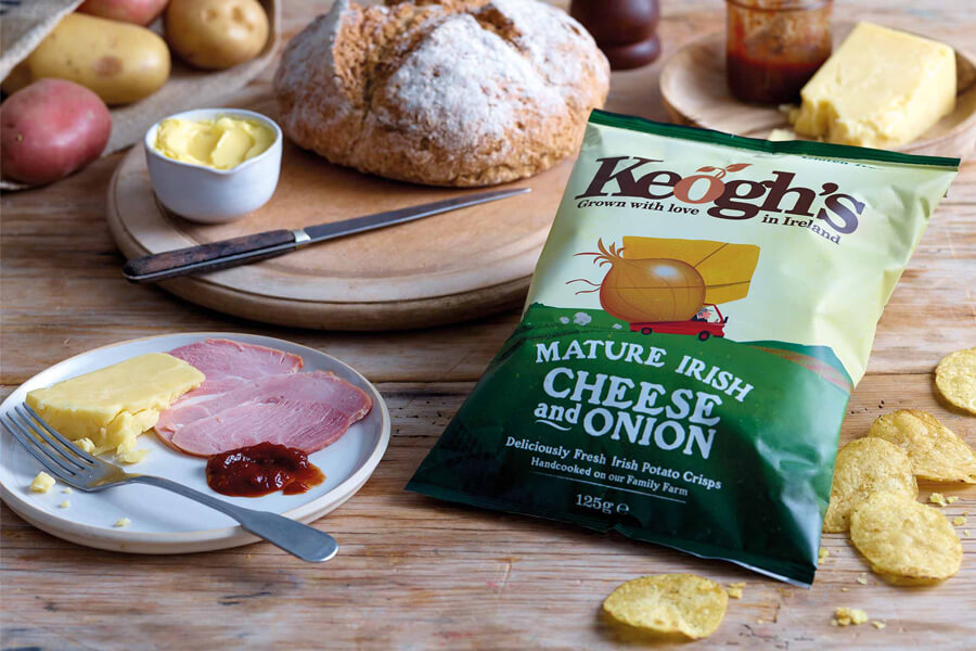 keoghs crisps mature irish cheese and onion