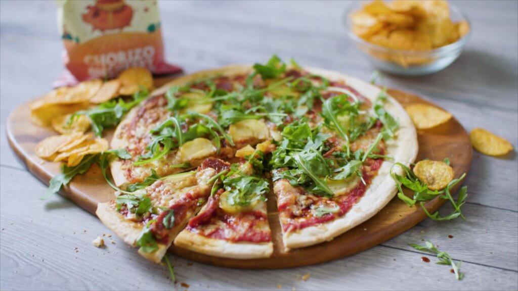 Keoghs crisps Chorizo pizza recipe